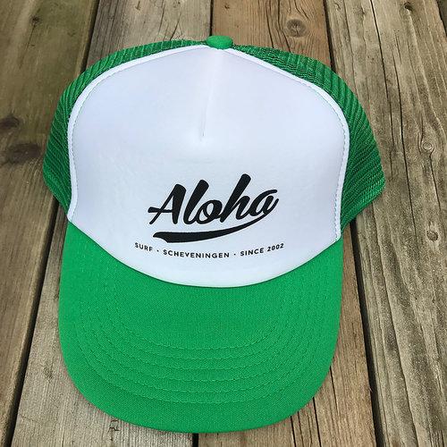 Aloha Surf Huismerk Aloha Logo Trucker Cap Green