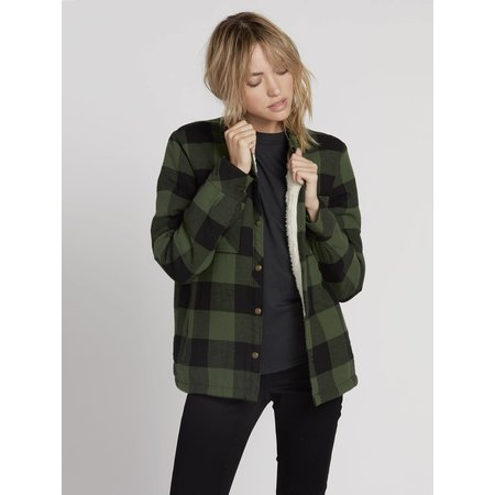Volcom Volcom Dames Plaid About you Long Sleeve Shirt Green
