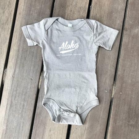 Aloha Surf Huismerk Aloha Baby Romper Grey