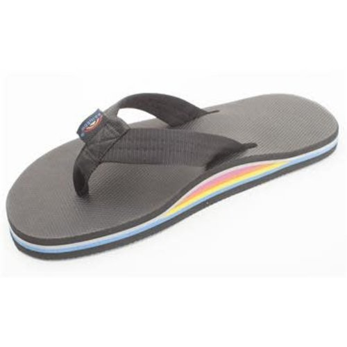 Rainbow Sandals Rainbow Heren Solid Black Single Layer Limited Edition