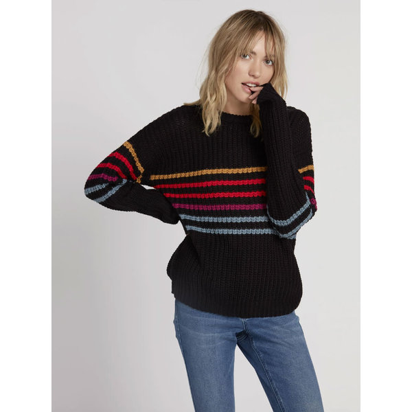 Volcom Dames Move On Up Sweater Black Combo