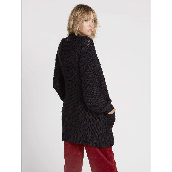 Volcom Dames Knit List Cardigan Black