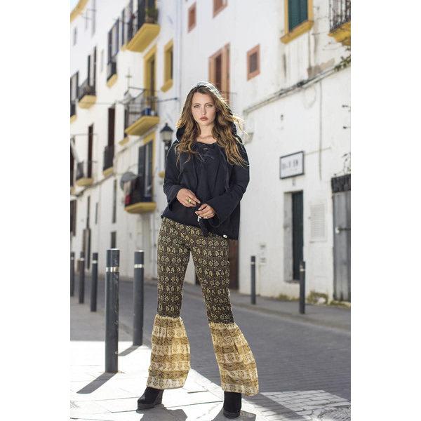 Isla Ibiza Dames Trouser Flair Mixed