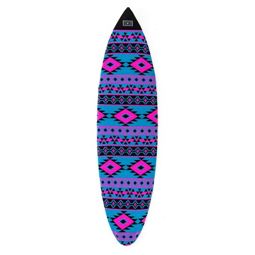 Creatures of Leisure Creatures Shortboard Boardsock Aztec Cyan/Magenta