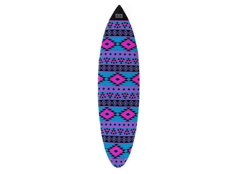 Creatures Shortboard Boardsock Aztec Cyan/Magenta