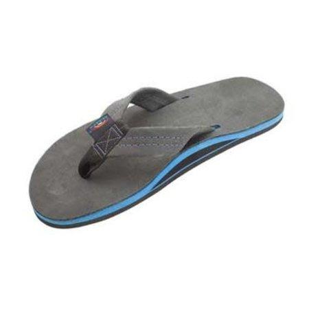 Rainbow Sandals Rainbow Heren Premier Blue Black Leather Sandals