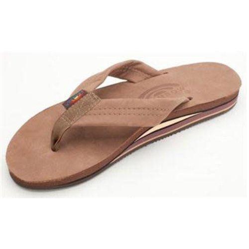 Rainbow Sandals Rainbow Dames Double Layer Premier Leather Dark Brown Sandals