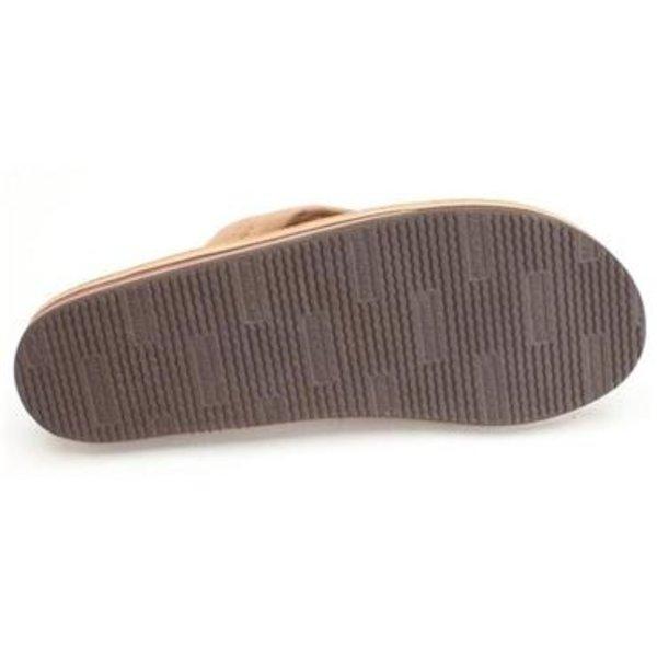Rainbow Dames Double Layer Premier Leather Dark Brown Sandals