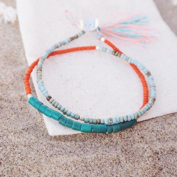 At Aloha Seas The Day Turquoise Armband