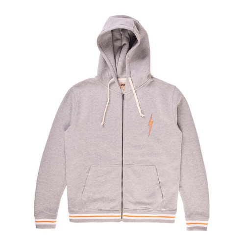 Lightning Bolt Lightning Bolt Heren Barry Zip Hoodie Heather Grey