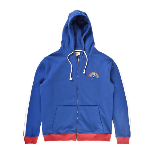 Lightning Bolt Lightning Bolt Heren Clark Zip Hoodie Estate Blue