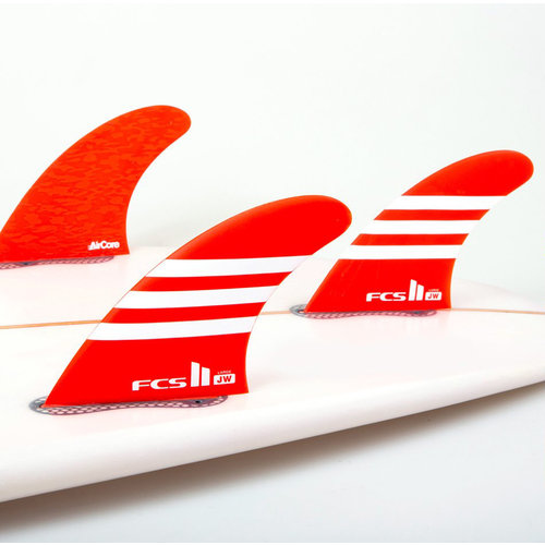 FCS FCS II JW PC Aircore Thruster Fins Red/White