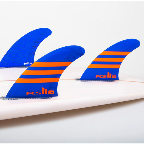 FCS FCS II JW PC Aircore Thruster Fins Blue/Orange