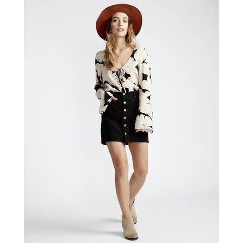 Billabong Billabong Dames Good Life Cord Skirt Black
