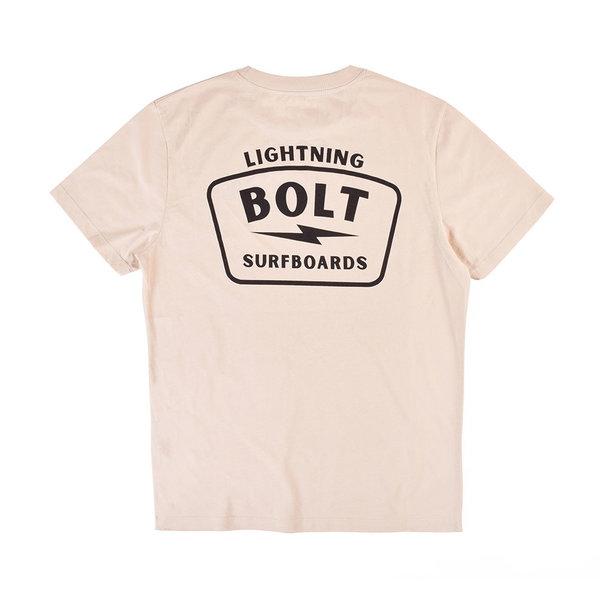 Lightning Bolt Heren Surfboards Tee Sand