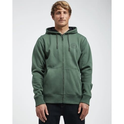 Billabong Billabong Heren Starweather Zip Hoodie Forest