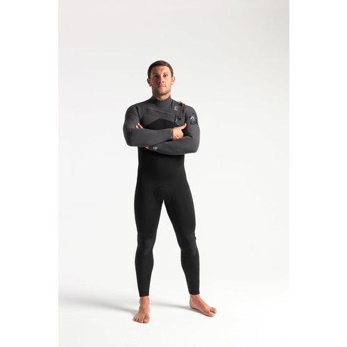 C-Skins C-Skins ReWired 5/4 Men's Winter Wetsuit Black/Charcoal/DiamondRed