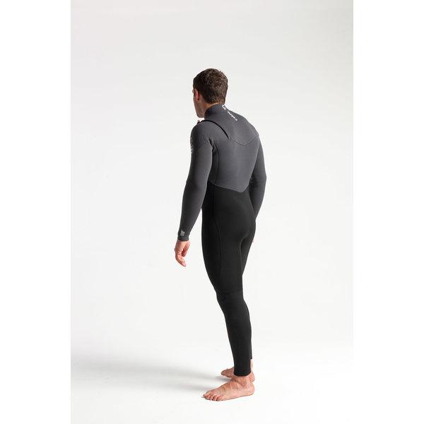 C-Skins ReWired 5/4 Heren Winter Wetsuit Black/Charcoal/DiamondRed