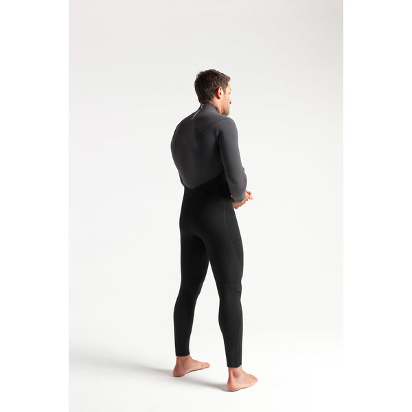 C-Skins ReWired 5/4 Heren Wetsuit Black/Charcoal/DiamondRed