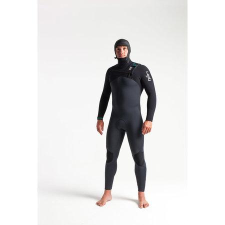 C-Skins C-Skins ReWired 5/4 Heren Winter Wetsuit Hooded Anthracite/Black/Diamond/Black
