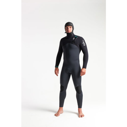 C-Skins C-Skins ReWired 5/4 Heren Wetsuit Hooded Anthracite/Black/Diamond/Black