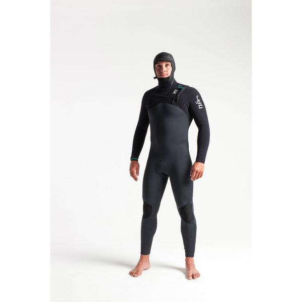 C-Skins ReWired 5/4 Heren Wetsuit Hooded Anthracite/Black/Diamond/Black