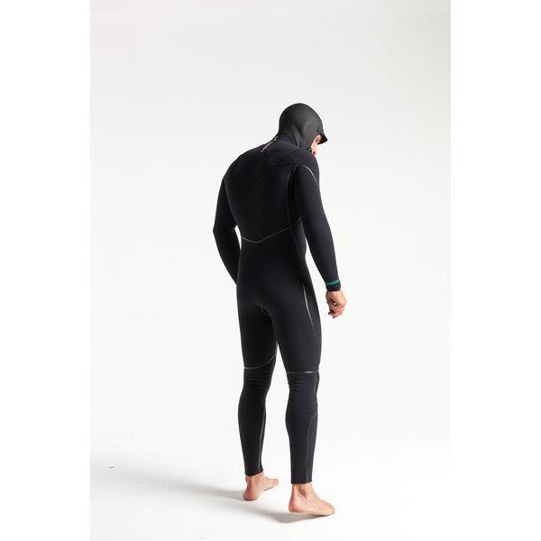 C-Skins Wired 5/4 Heren Winter Wetsuit Hooded BlackDiamond/C-Green