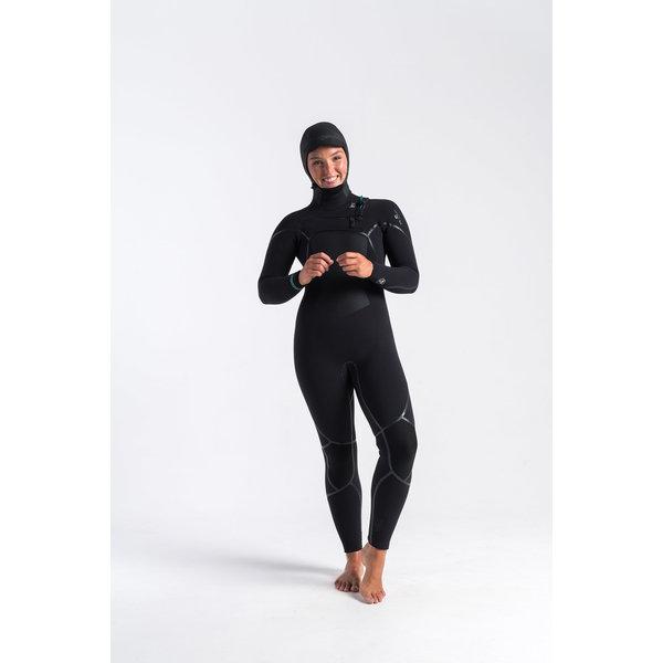 C-Skins Wired 6/5/4 Dames Wetsuit Hooded Black/DiamondBlack