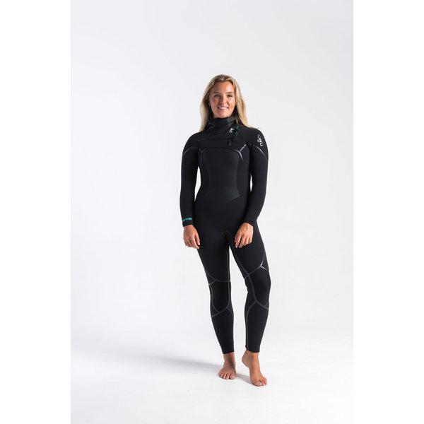 C-Skins Wired 6/5/4 Dames Winter Wetsuit Hooded Black/DiamondBlack