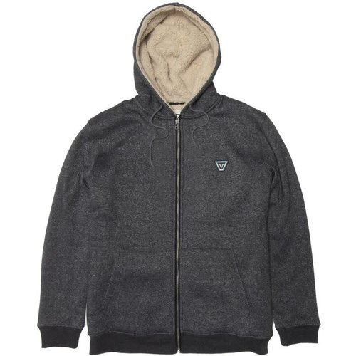 Vissla Vissla Heren The Trip Sherpa Zip Hoodie Black Heather