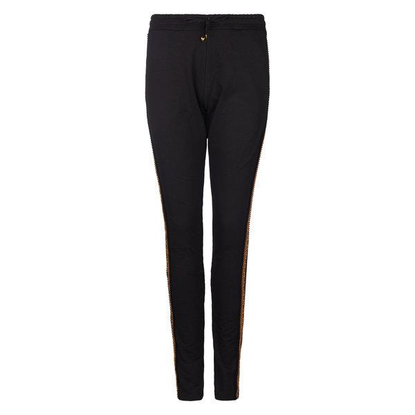 Isla Ibiza Dames Trousers Black/Brown