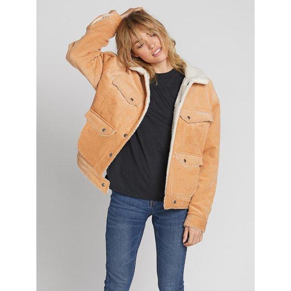 Volcom Dames Woodstone Cord Reversible Jacket Camel
