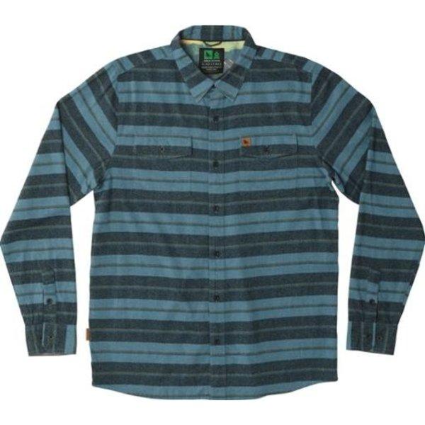 Hippy Tree Heren Morrison Flannel Shirt Blue