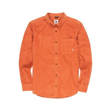 Element Element Heren Lumber Cord LS Shirt GInger Bread