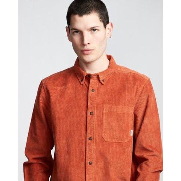 Element Heren Lumber Cord LS Shirt GInger Bread
