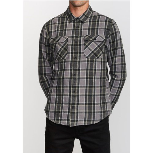 RVCA RVCA Heren That'll Work Flannel Smoke