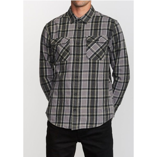 RVCA Heren That'll Work Flannel Smoke
