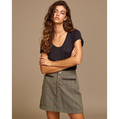 RVCA RVCA Dames Natwest High Rise Skirt Oatmeal