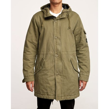 RVCA RVCA Heren Standard Issue Parka Cadet Green