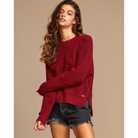 RVCA RVCA Women's Drop Out Sweater Brick Red