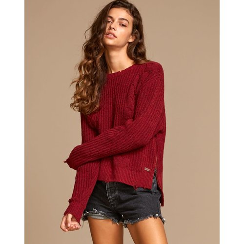 RVCA RVCA Dames Drop Out Sweater Brick Red