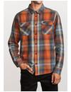 RVCA Heren Muir Flannel Rust Orange
