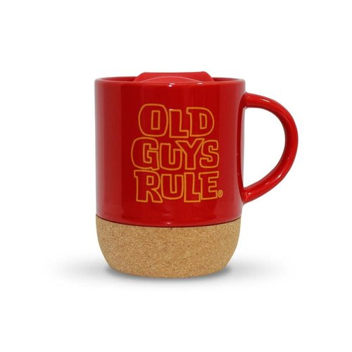 Old Guys Rule Old Guys Rule Stacked Logo Travel Mug Cardinal Red