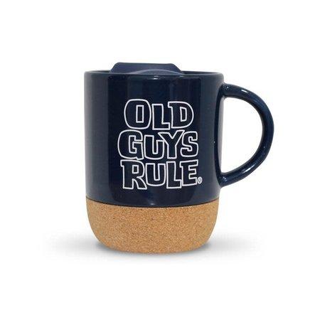Old Guys Rule Old Guys Rule Stacked Logo Travel Mug Navy