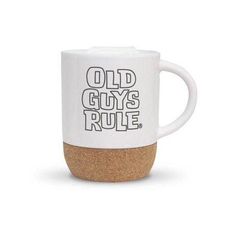 Old Guys Rule Old Guys Rule Stacked Logo Travel Mug White