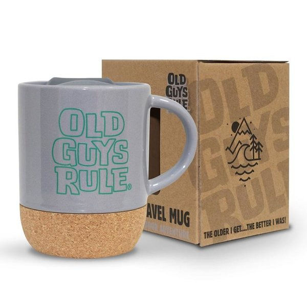 Old Guys Rule Stacked Logo Travel Mug Charcoal