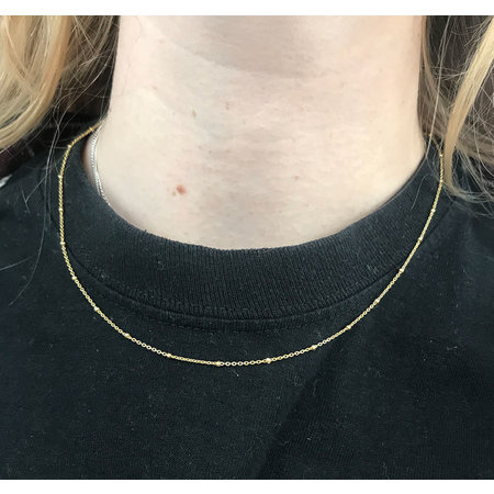 A Little Lem A Little Lem Ava The Ace Bamboe Gold Plated Necklace