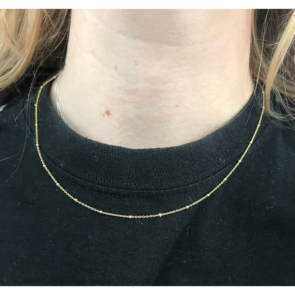 A Little Lem Ava The Ace Bamboe Gold Plated Necklace