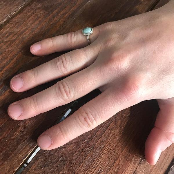 A Little Lem Fiona Amazonite Ring