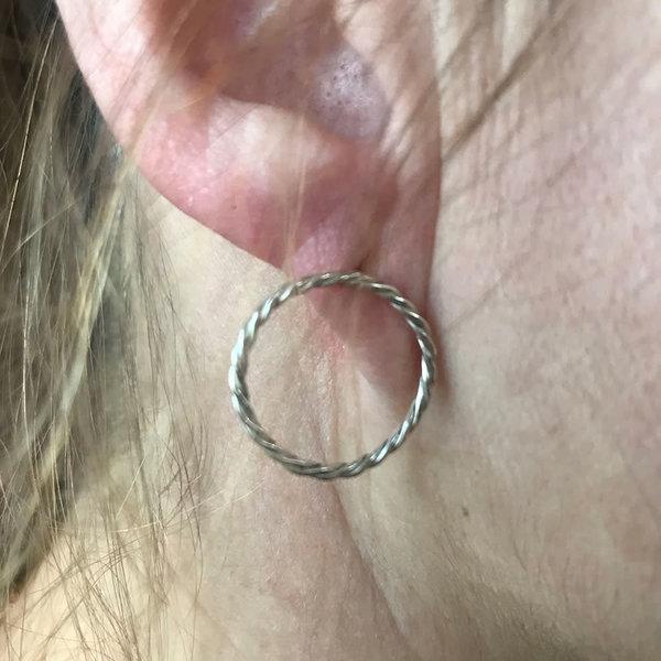 A Little Lem Lou Floating Hoop Earring